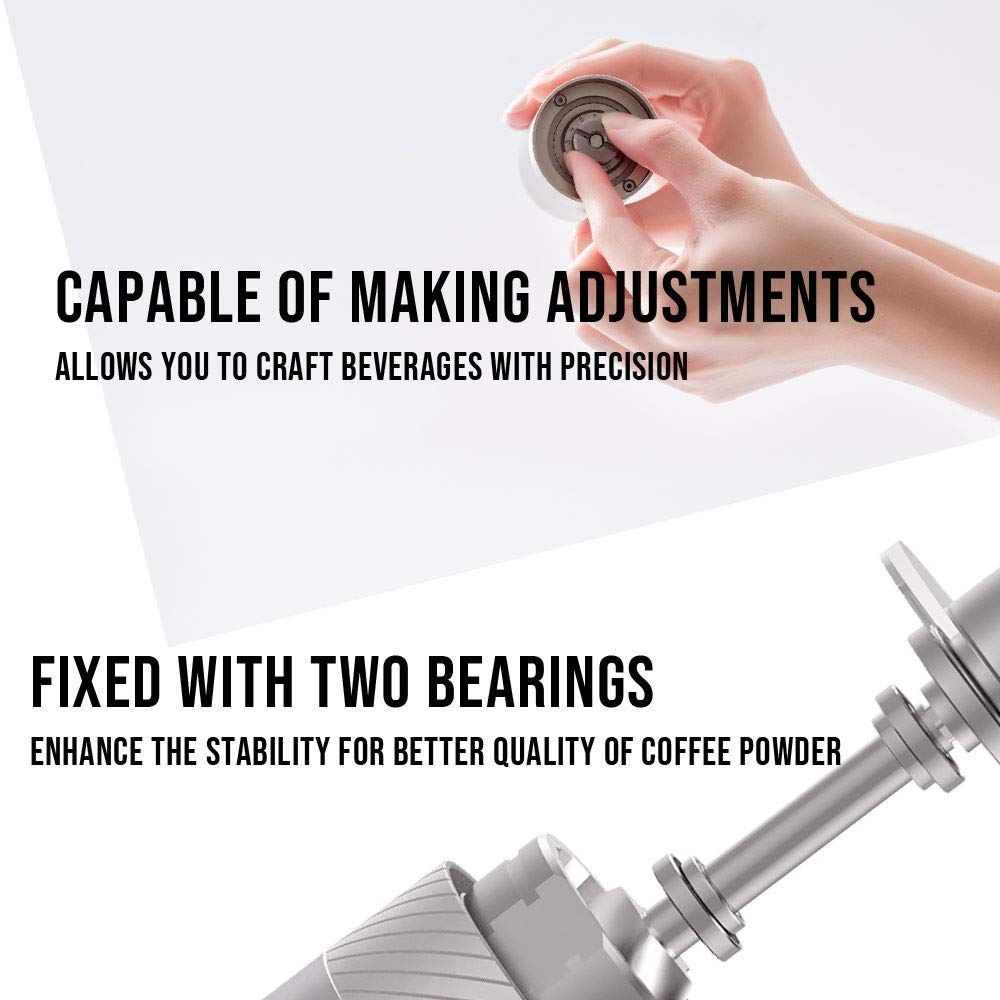 1Zpresso MINI Manual Coffee Grinder Q Series, Easy disassembly for cleaning, Small Lightweight, 15~20g Capacity, Platinum Gray by 1ZPresso (Image #5)