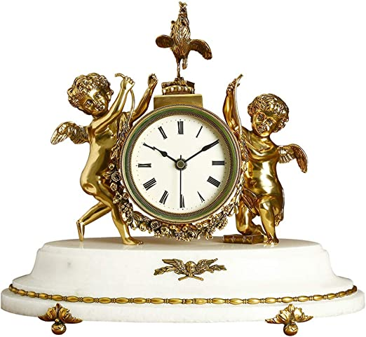Reloj de Mesa Antiguo de Alta Gama: Cobre Europeo, Reloj de mármol ...