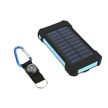 300000mAh Dual USB portátil de batería Solar Cargador Solar Banco de alimentación de Alta Capacidad perjudica el Medio Ambiente