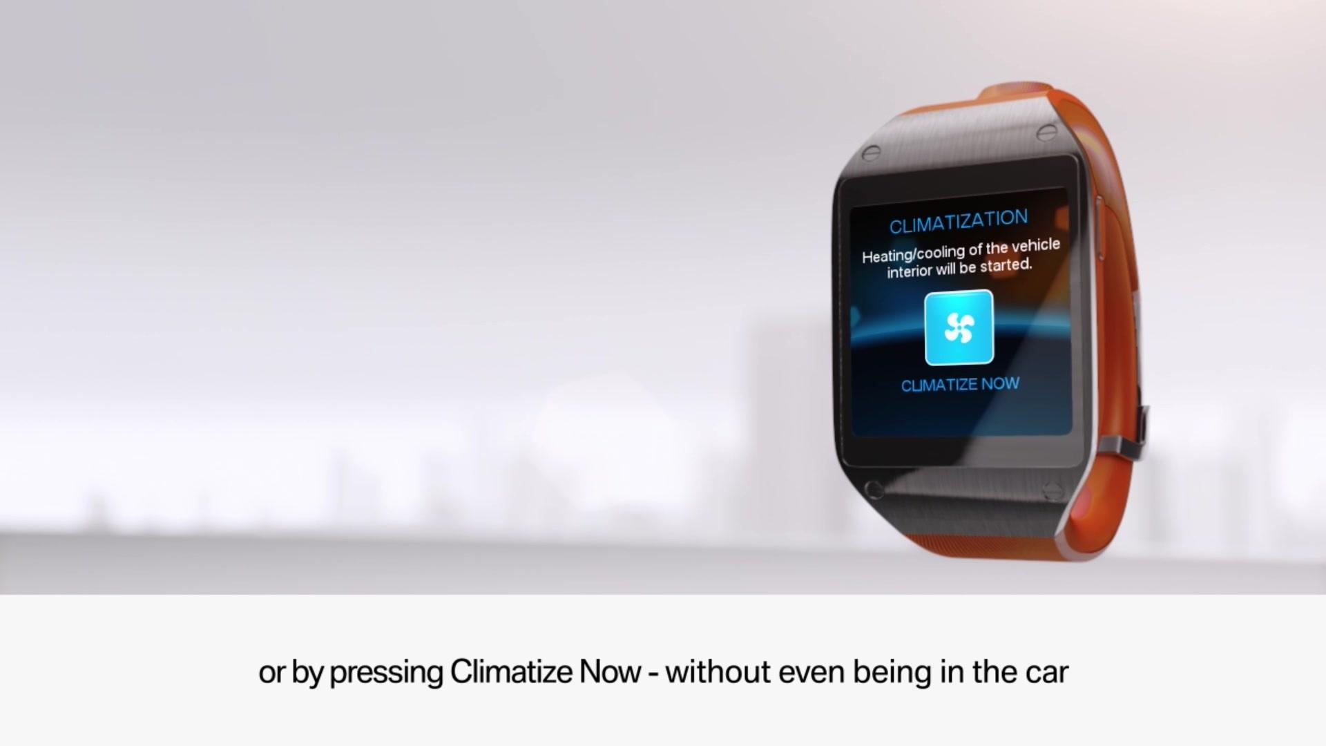 Samsung Galaxy Gear's BMW I3 Remote App Functions Demo