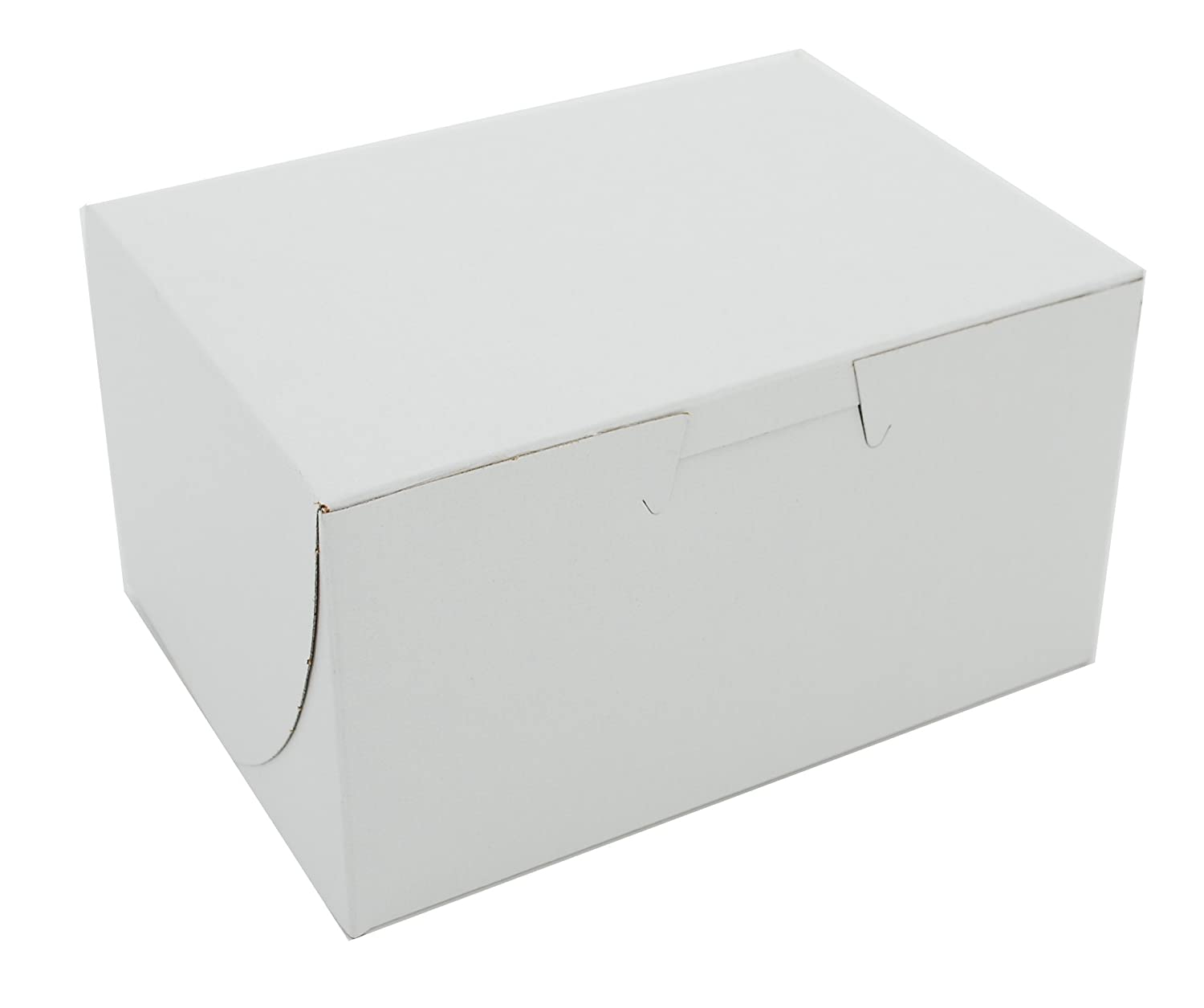 Southern Champion Tray 0900 Premium Clay Coated Kraft Paperboard White Non-Window Lock Corner Bakery Box, 5-1/2