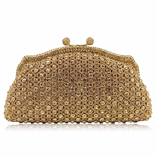 Crystal Women Leather Luxury Diamonds Maollmm Evening Bags Clutch Purse Bag New Party Clutches Wedding 81w5wqC