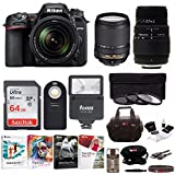 Nikon D7500 Digital SLR Camera + AF-S 18-140mm VR Lens + Sigma 70-300mm Macro Lens + Accessory Bundle