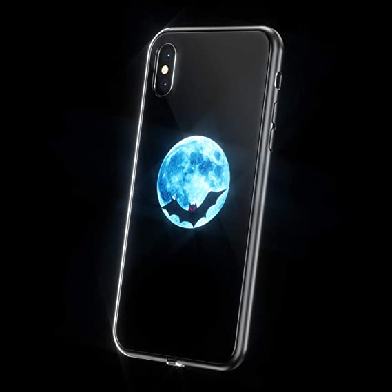 new style b33ec b1883 LED Light Up Case for iPhone X, WILLGOO Music-Activated Flashing iPhone  Case for Self Expression, Protective Phone Cover (Bat)