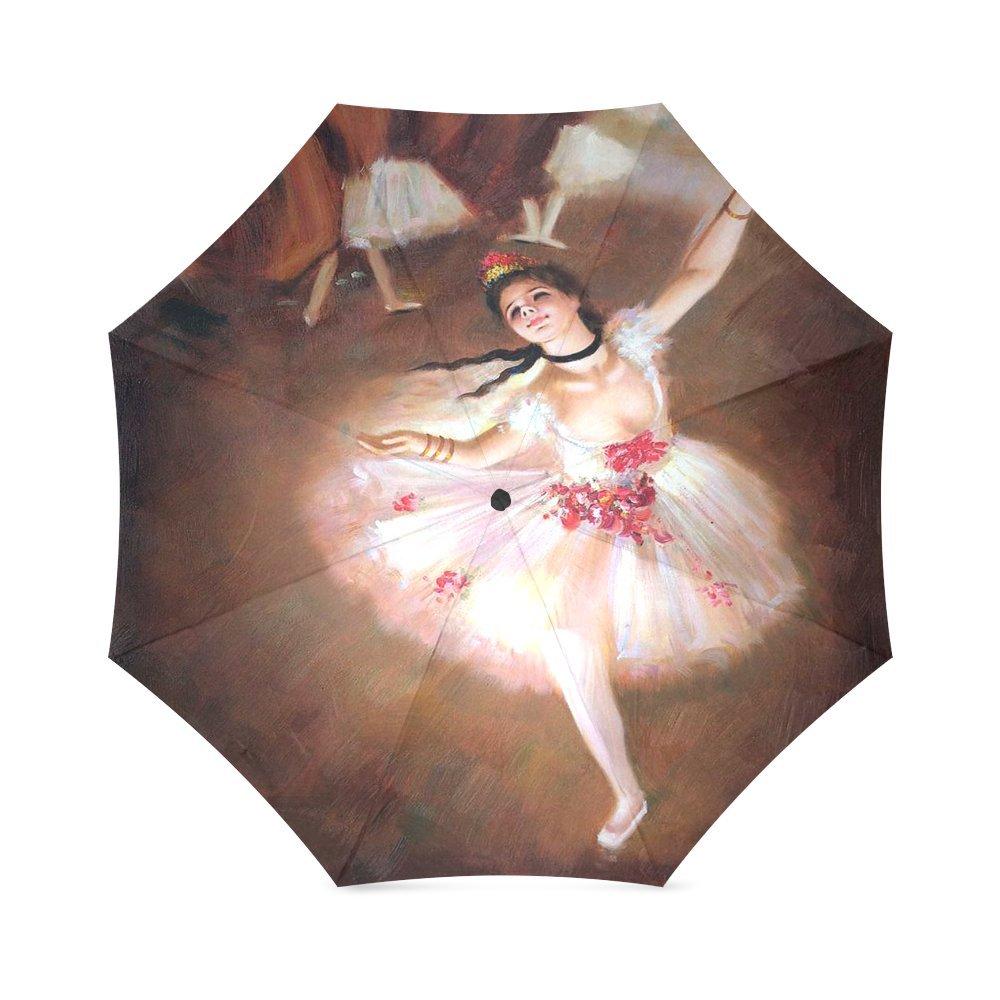 友達誕生日プレゼントPresents Primaバレリーナby Edgar Degas 100 %生地とアルミニウム高品質折りたたみ式傘   B01DOZ023W