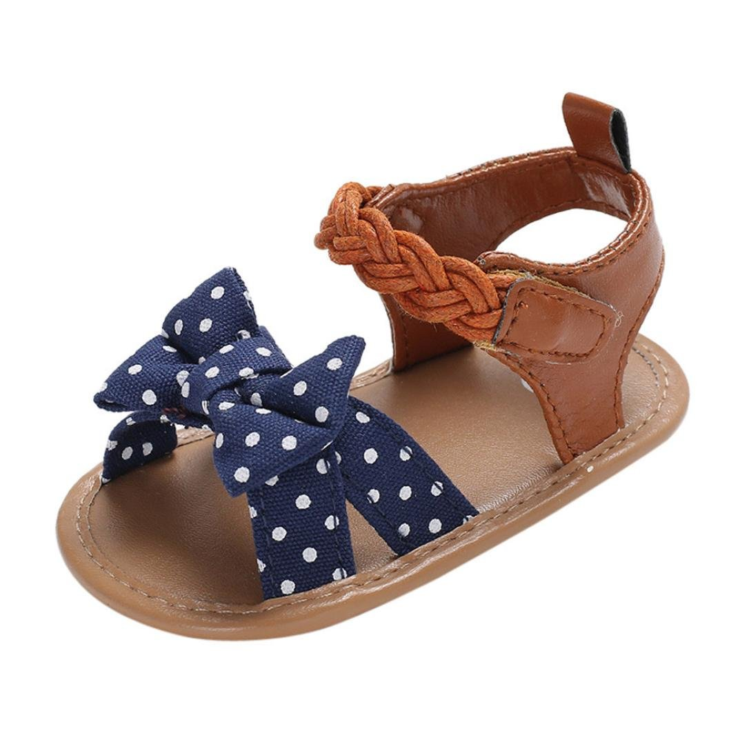 Summer Toddler Shoes ♪♪ Kstare Baby Kid Boys' Girls' Soft-Soled Canvas Sandals (Toddler, Little Kid) (Blue -B, 6~12 M)