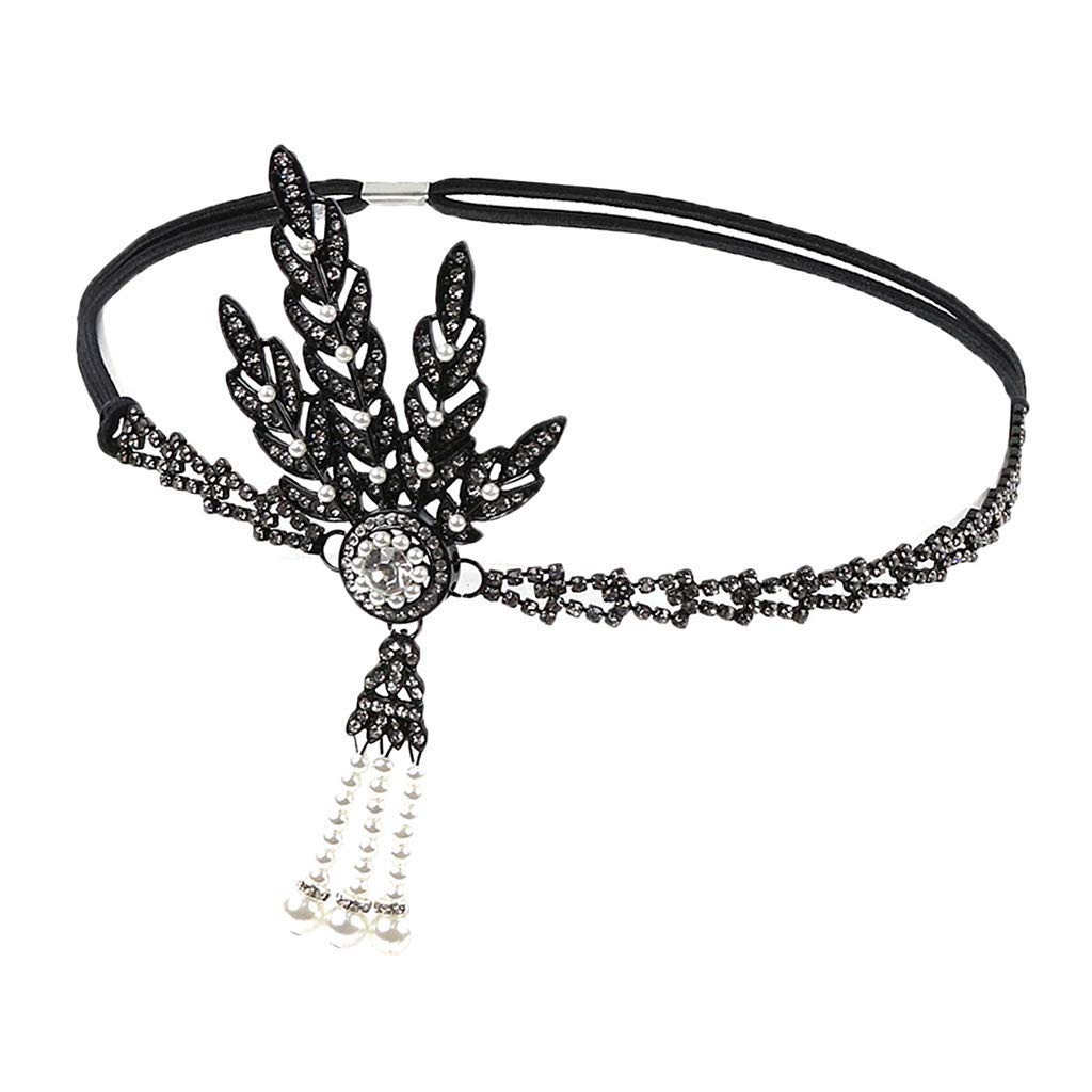 Luxury Rhinestone Diamante Headpiece Flapper 20s Gatsby Headband Wedding Bridal