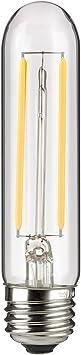 Sunlite 80611 LED Filament T10 Tubular Light Bulb 6 Watts (60W Equivalent), 600 Lumens, Medium E26 Base, Dimmable, 128 mm, ETL Listed, 1 Pack, 2700K Warm White