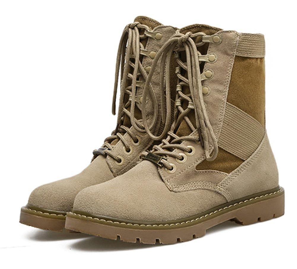 Aisun Damen Runde Zehen Plateau Blockabsatz Schnürsenkel Schnürsenkel Schnürsenkel Combat Stiefel Kurzschaft Stiefel 257221