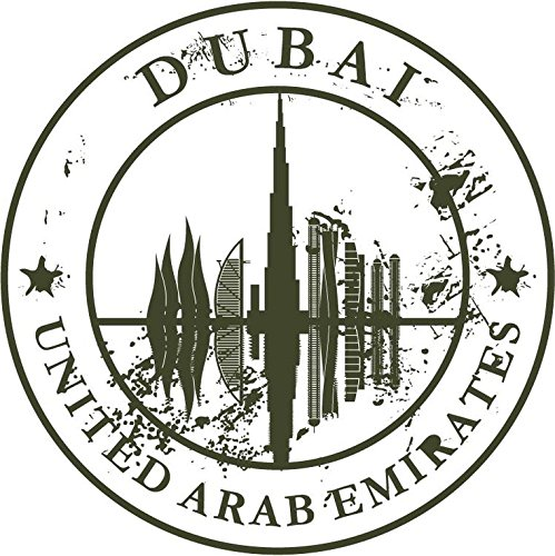 Dubai united arab emirates travel retro rubber stamp for United international decor bahrain