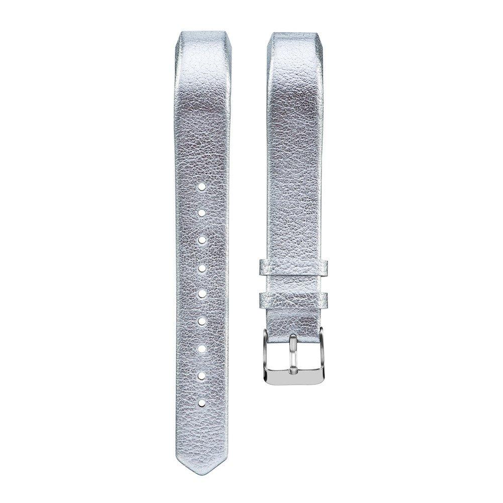 手首バンドfor Fitbit ALTAアルタ/ HR交換レザーリストバンド腕時計ストラップfor Fitbit ALTAアルタ/ HR Watch B074QLRJMF シルバー