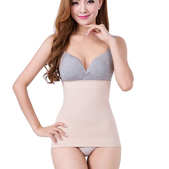8838ceb8ec Amazon.com   Dovewill Seamless Corset Liner Undergarment Waist Liner Tube  Top Tummy Tuck Belt Girdle Breathable and Very Stretchy   Sports   Outdoors