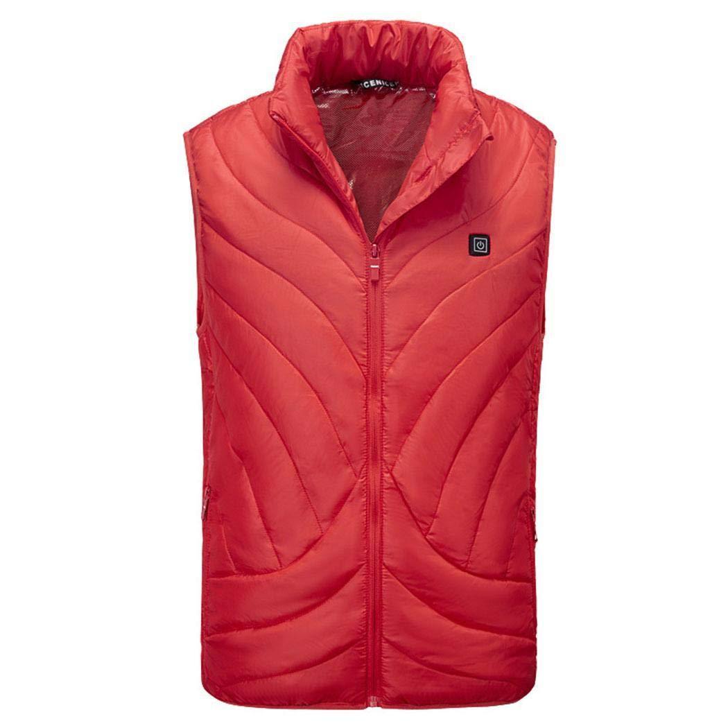 pairris Gilet Solido Senza Maniche Colletto Caldo Invernale da Uomo di Nuova Moda Gilet