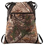 Drawstring Backpack Bag – Camo Patterned – Camouflage Outdoor Backpacks with Adjustable Web Straps For Sale
