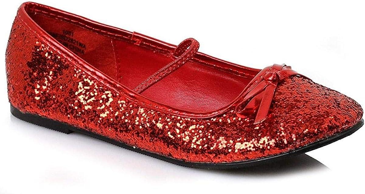Amazon.com: Girls Glitter Red Shoes, XS