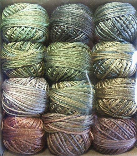 Valdani Luxury Silk Floss Leaves 6 Strand Thread Hand-dyed 12 Spool ()