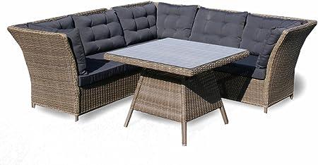 tidyard Gartensofa Garnitur Lounge Set mit Sonnenliegen Rattansofa Gartenlounge Set Gartenm/öbel Sitzgruppe Gartenset Gartengarnitur Poly Rattan
