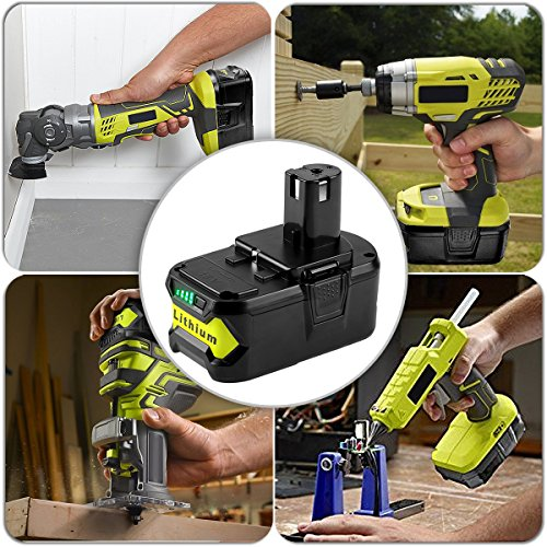 [Upgrade] ANTRobut 5000mAh 18volt P108 Ryobi 18V Lithium Battery Replacement for Ryobi 18-Volt ONE+ P104 P105 P102 P103 P107 P108 P109 Tool by ANTRobut (Image #3)
