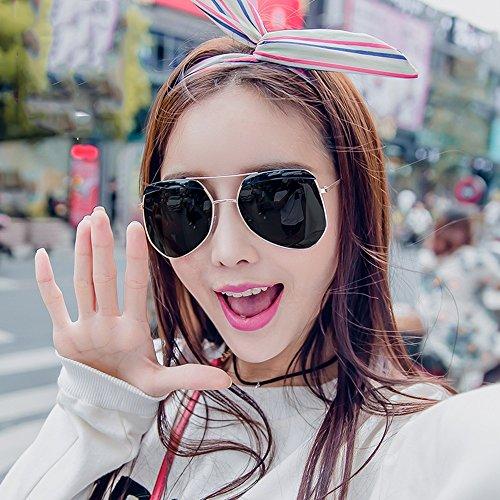 Amazing Espejo sol de Retro Estilo Marco Color B E Redondo Femenino Harajuku Gafas de Viaje 4awExBqB