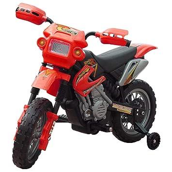 vidaXL Motobicicleta Batería Eléctrica de Niños Roja y Negra ...
