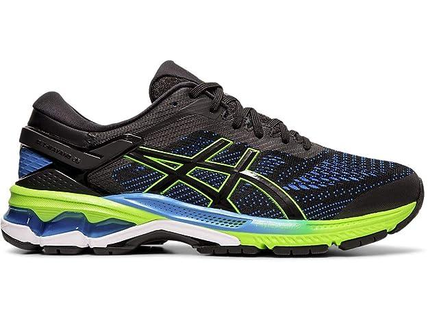 ASICS Men's Gel-Kayano 26 Running Shoes, 6M, Black/Electric Blue