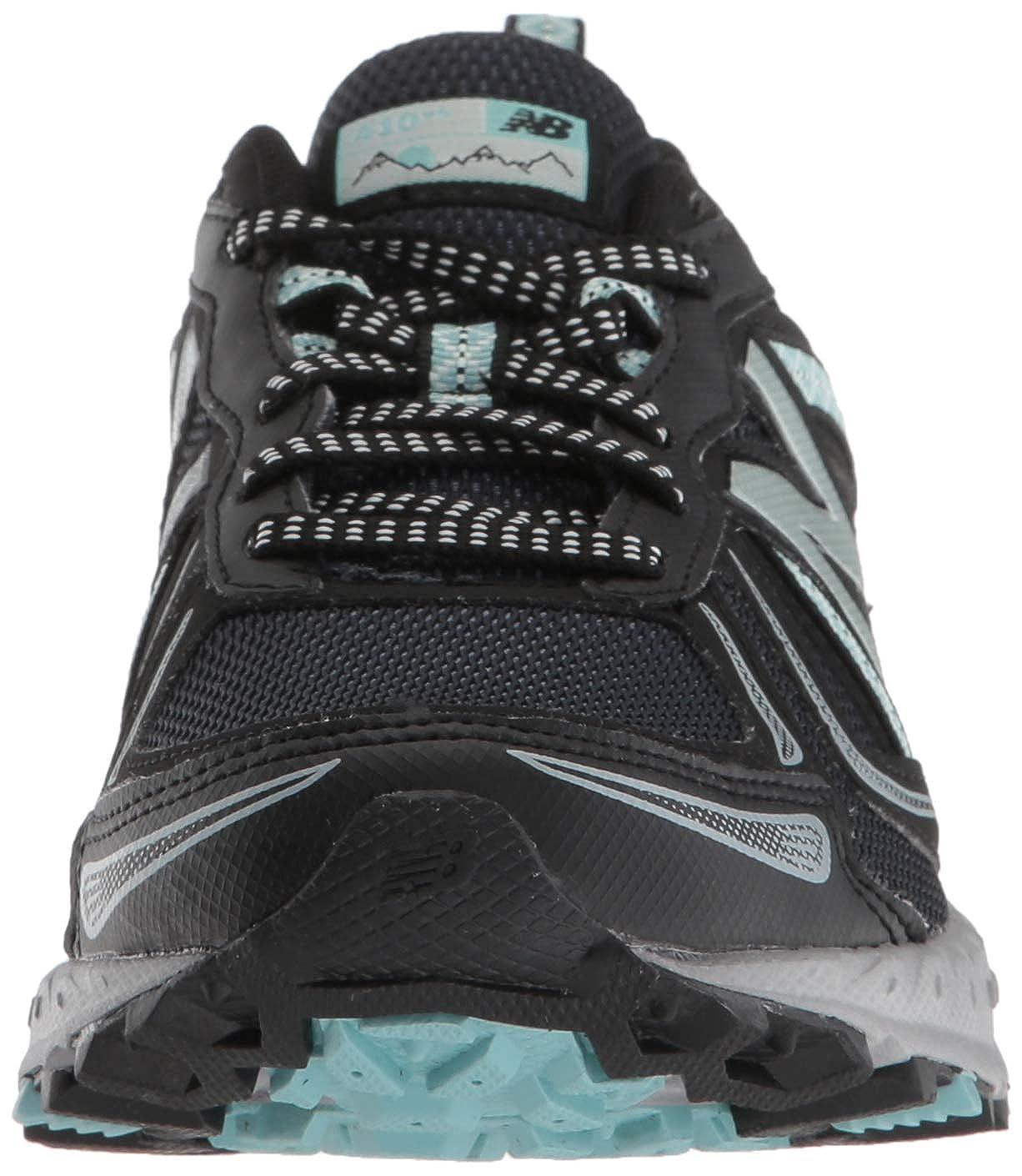 New Balance Women s 410v5 Cushioning Trail Running Shoe Black Thunder Ocean air 8 D US