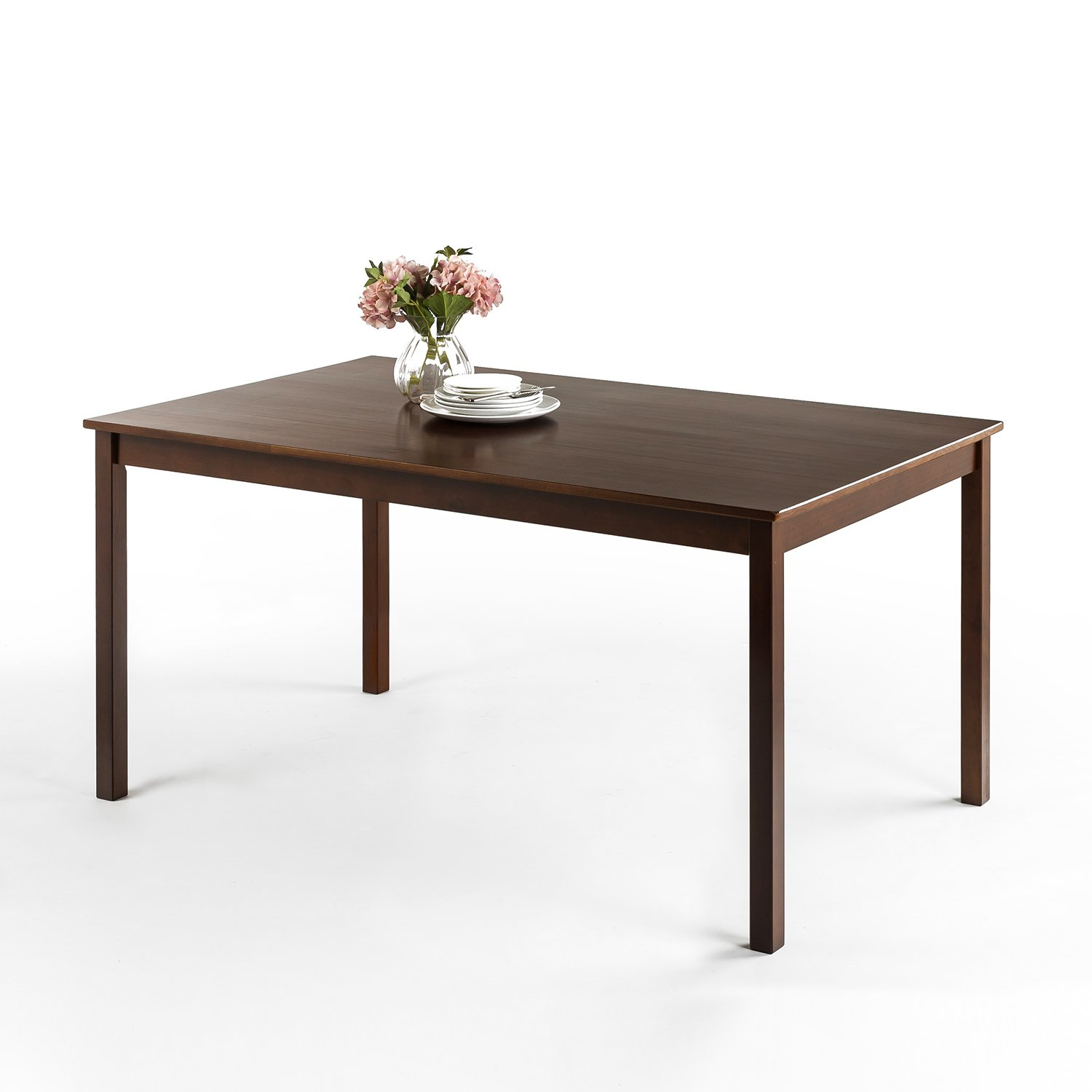 Zinus Juliet Espresso Wood Large Dining Table Table Only