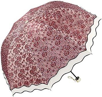 aoosir UPF 50 + Protección Solar, diseño de paraguas de encaje Fashion