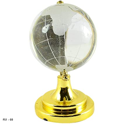 Crystu Vastu/Feng Shui Crystal Globe for Success Good Luck and Prosperity 60 mm Approx