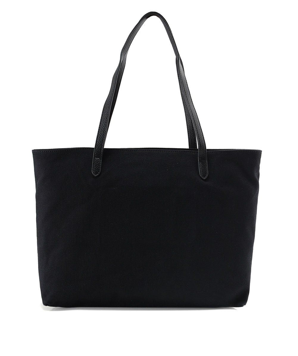 Love Moschino Women's Canvas Logo Shopper Bag Black One Size by Love Moschino (Image #3)