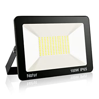 100W LED Foco exterior, 3000K Blanco cálido Impermeable IP65 ...