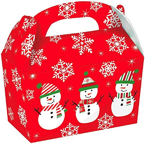 Christmas Gable Boxes - Christmas Snowman Gable Boxes, 5 Ct. | Party Supply