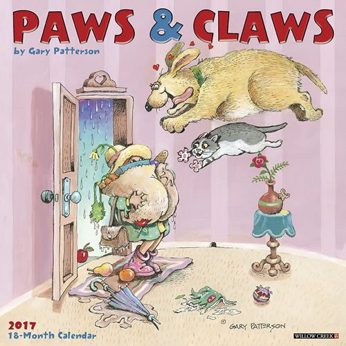 2017 Paws and Claws - by Gary Patterson Wall Calendar Dogs Cats {jg} Great Holiday Gift Ideas - for mom, dad, sister, brother, grandparents, gay, lgbtq, grandchildren, grandma.
