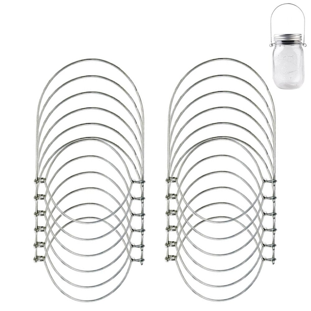12 Pack Stainless Steel Wire Handles for Regular Mouth Mason, Ball, Canning Jars Hanger, Hanging Jars, Jar hanging Hook