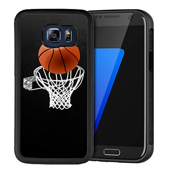 timeless design a52ed 9cc0c Amazon.com: Samsung Galaxy S6 Edge Plus Case, Basketball Shock ...