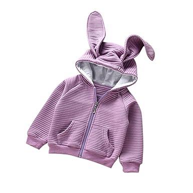 Bebé Cardigan abrigo con capucha , Yannerr niños niñas Orejas de conejo manga larga encapuchados chaqueta