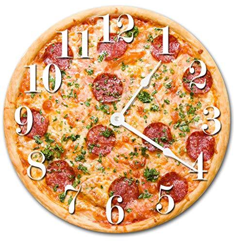 - Sugar Vine Art Pizza Food Kitchen Clock Decorative Round Wall Clock Home Decor Wall Clock Large 10.5