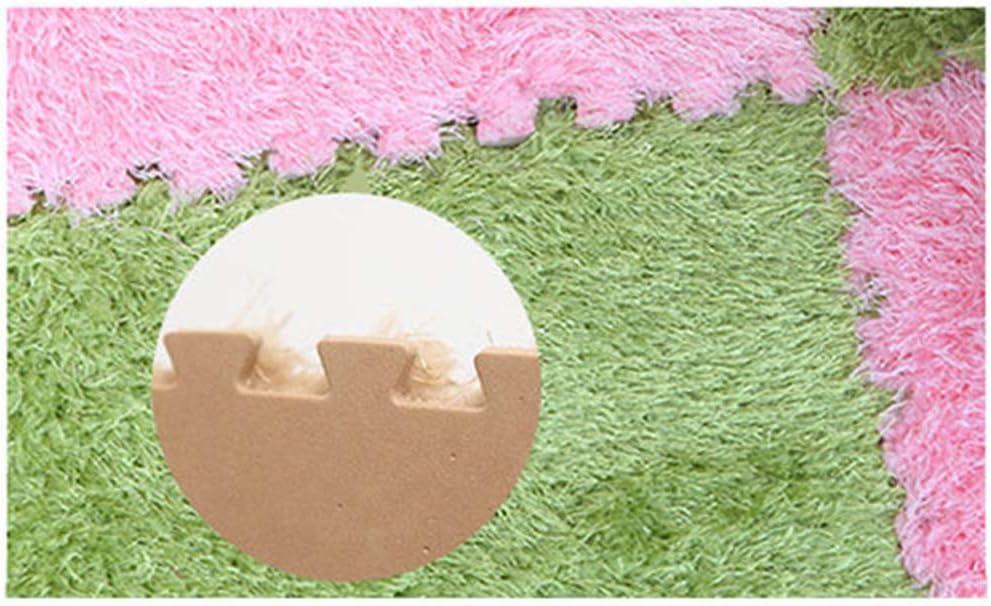 Ideal for Nursery Decor,Baby Room,Playroom and Kids Room Alapaste Interlocking Foam EVA Mats Carpet Fuzzy Area Rug 9 Fluffy Carpet Tiles for Kids White