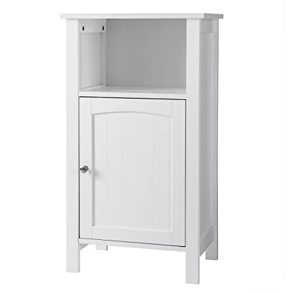 amazon com songmics bathroom floor storage cabinet with single door rh amazon com