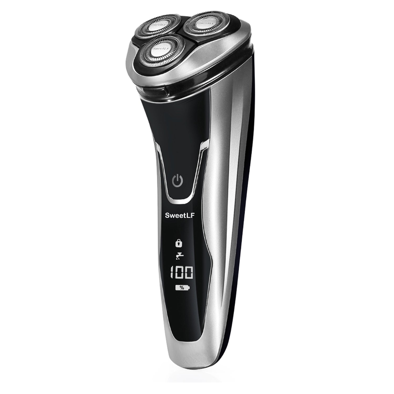 SweetLF Electric Shaver Razor for Men 2 in 1 Beard Trimmer Wet & Dry Waterproof Electric Razor Mens Rotary Shaver USB Quick Rechargeable Shaver for Men