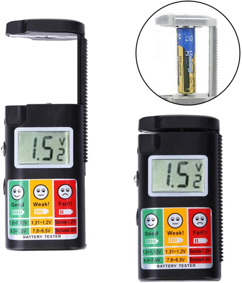 Household Battery Testers Digital Battery Tester 0-9V Lcd Display Battery Checker Multifunction Battery Test Tool For Aa Aaa R1 Lr1