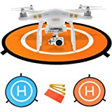 "HowiseAcc 30"" / 75 cm Drone Landing Pad Impact Protection Waterproof/Dirtproof Fast-Fold Portable Collapsible Helipad Launch Pad for DJI Spark Mavic Pro Phantom 2/3/4/4 Pro Inspire 1"