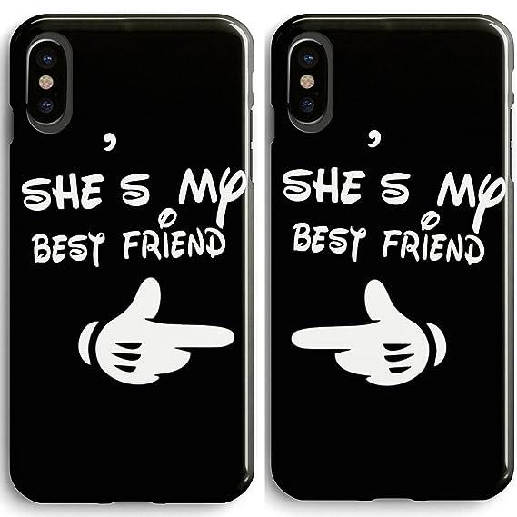 wholesale dealer 460e2 a2063 Amazon.com: Frepstudio Compatible Cute Bff Best Friends Sisters ...