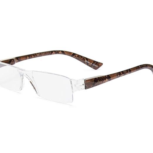 Paquete de 3 lentes, lectura y presbicia con estuches sin montura y tres delgados (Animal, 1.5)