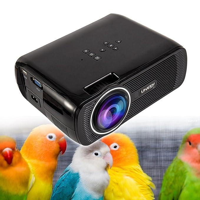 New_Soul Proyector Cine en Casa Projector 1080p 3D U80 3000 Lumens ...