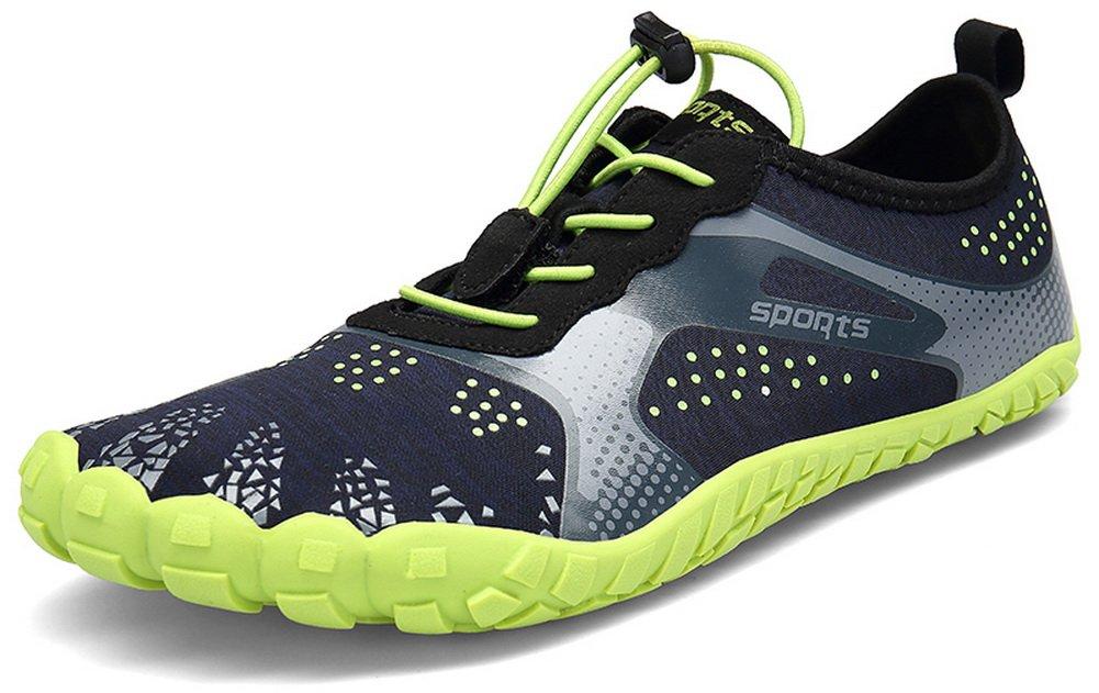 JOOMRA Men Women Wide Quick Dry Barefoot Hiking Water Shoes B07F1HPMGZ 11 US Women's / 9.5 US Men's|Green