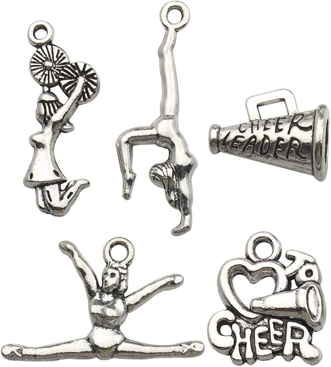 5 STYLES OF ASSORTMENT SILVER SPIRITUAL CHARMS,you choose GREAT FOR DIY CRAFTS