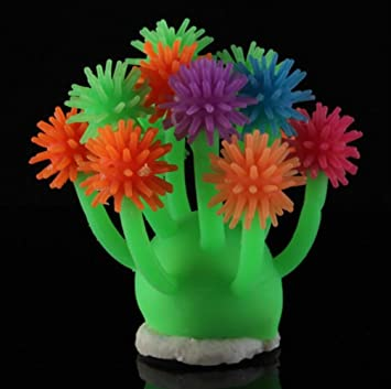 SDCXV Hermoso Bola coralina Colorida del pilluelo del Ornamento del Pecera para la decoración del Pecera