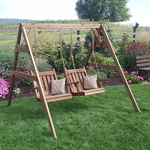 A & L Furniture A-Frame Swing Stand for Swing Or Swing Be...