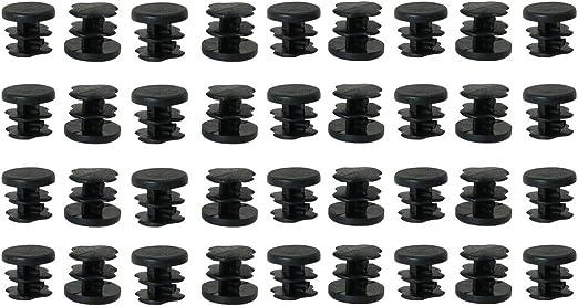 19 mm Rond Plastique insère bouchon bouchon pour Métallique tubulaire Table /& Chaise jambes